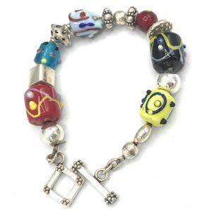 B0871 Retired Silpada Glass Beads Bracelet - 2008